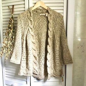 {NWT DKNY Jeans} Alpaca Blend Cardigan Sweater, L